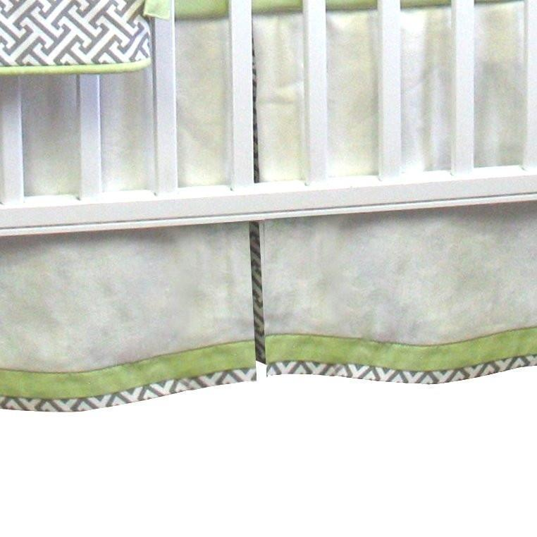Crib Skirt-Jack and Jill Boutique-Crib Skirt | Metro Luxury Baby Bedding Set