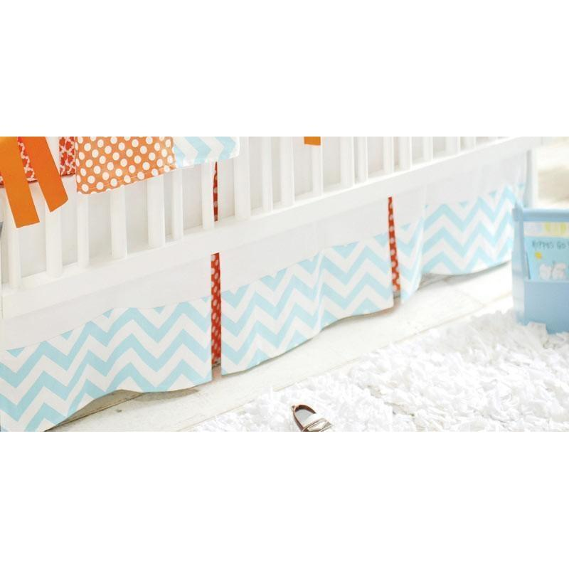 Crib Skirt | Orange Crush
