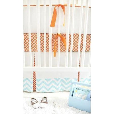 Crib Skirt | Orange Crush-Crib Skirt-Jack and Jill Boutique