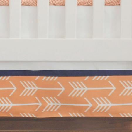 Crib Skirt | Orange & Navy Arrow Out & About
