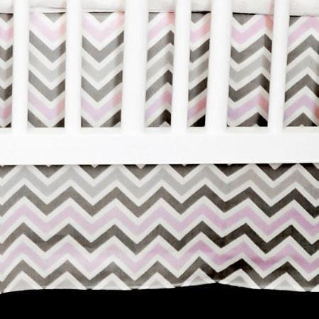 Crib Skirt | Peace, Love & Pink
