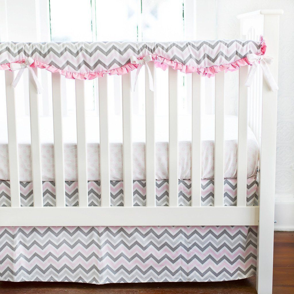 Crib Skirt | Peace, Love & Pink-Crib Skirt-Jack and Jill Boutique