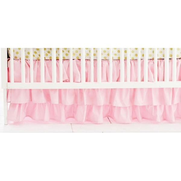 Crib Skirt | Pink Bumperless-Crib Skirt-Jack and Jill Boutique