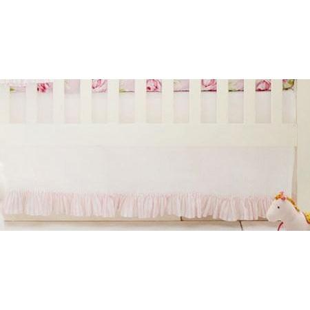 Crib Skirt | Pink Floral Pink Desert Rose-Crib Skirt-Jack and Jill Boutique
