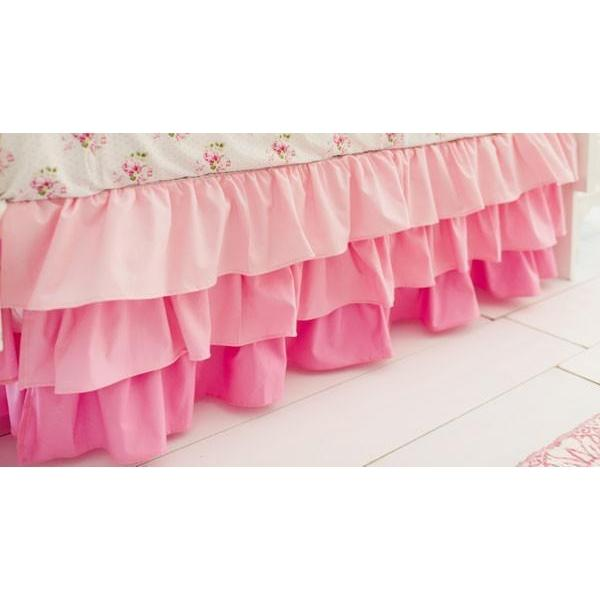 Crib Skirt | Pink Ombre-Crib Skirt-Jack and Jill Boutique