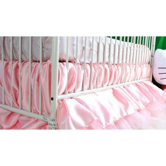 Crib Skirt | Pink Princess-Crib Skirt-Jack and Jill Boutique