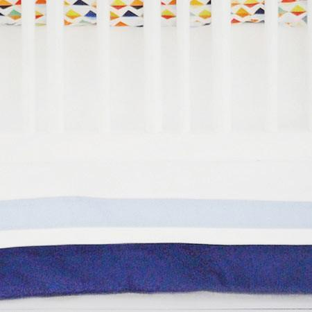 Crib Skirt | Rhapsody in Blue-Crib Skirt-Jack and Jill Boutique