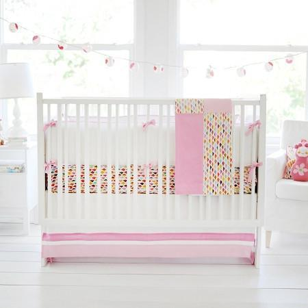 Crib Skirt | Rhapsody in Pink-Crib Skirt-Jack and Jill Boutique