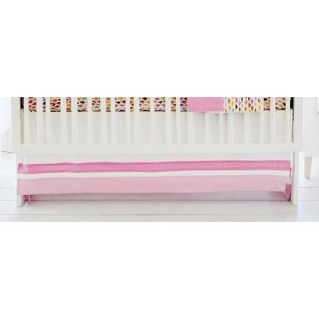 Crib Skirt-Jack and Jill Boutique-Crib Skirt | Rhapsody in Pink