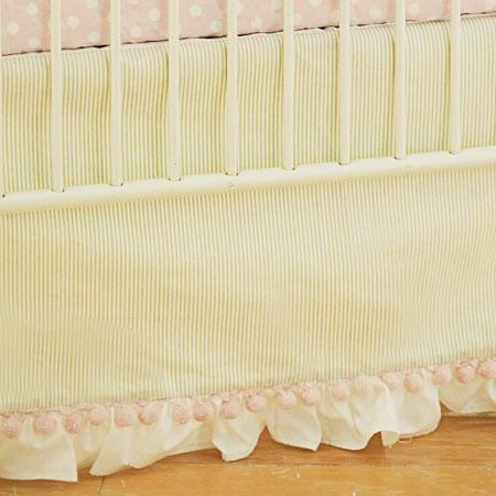 Crib Skirt | Roses for Bella-Crib Skirt-Jack and Jill Boutique