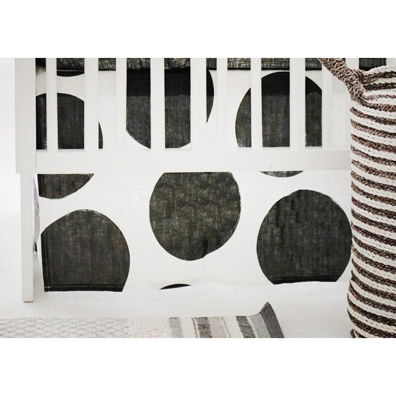 Crib Skirt | Spot On Charcoal-Crib Skirt-Jack and Jill Boutique