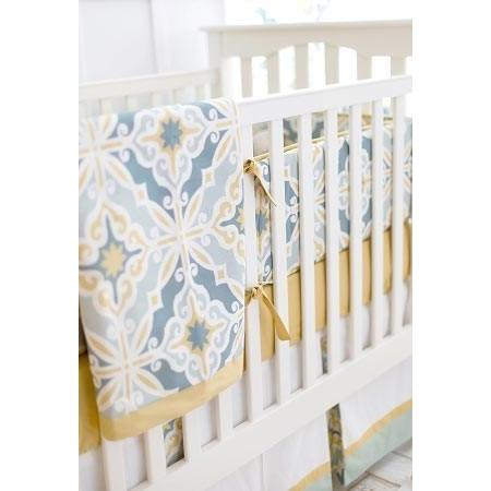 Crib Skirt | Starburst in Gold