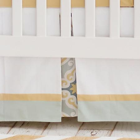 Crib Skirt | Starburst in Gold-Crib Skirt-Jack and Jill Boutique