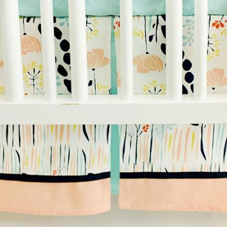 Crib Skirt | Summer Grove-Crib Skirt-Jack and Jill Boutique