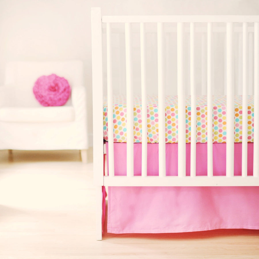 Crib Skirt | Sweet & Simple Seperates - Hot Pink-Crib Skirt-Jack and Jill Boutique