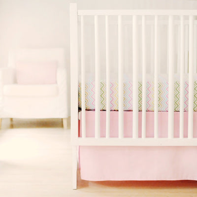 Crib Skirt | Sweet & Simple Seperates - Pink-Crib Skirt-Jack and Jill Boutique
