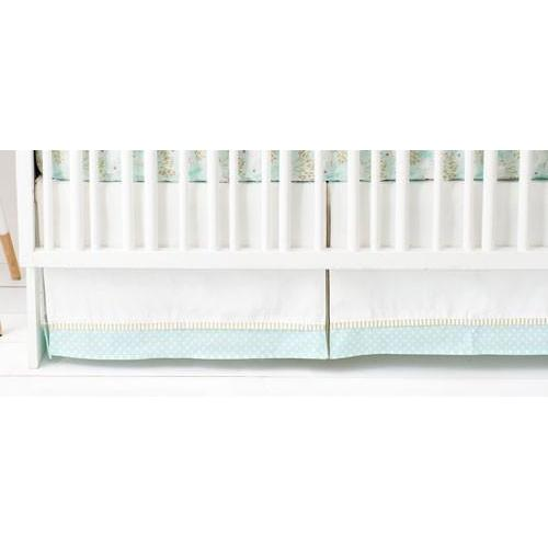 Crib Skirt | Unicorn in Mint-Crib Skirt-Jack and Jill Boutique