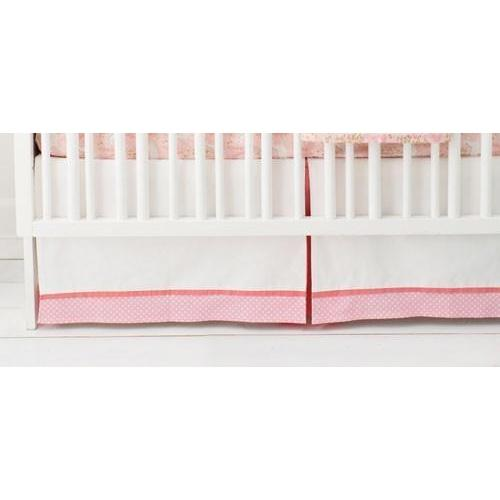 Crib Skirt | Unicorn in Pink-Crib Skirt-Jack and Jill Boutique