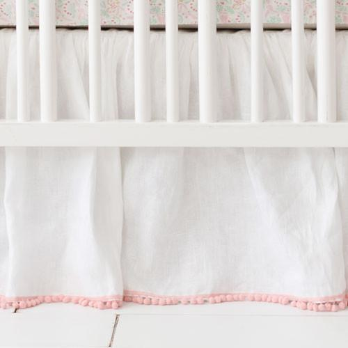 Crib Skirt | Unicorn Magic Folk in Aqua-Crib Skirt-Jack and Jill Boutique
