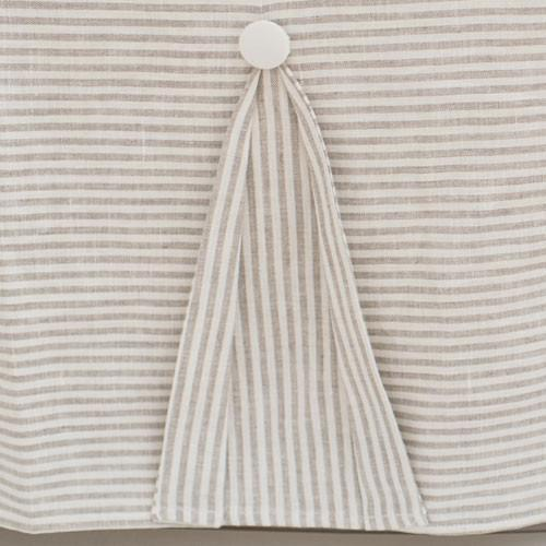 Crib Skirt | Washed Linen in Ecru Stripe Baby Bedding Set-Crib Skirt-Jack and Jill Boutique