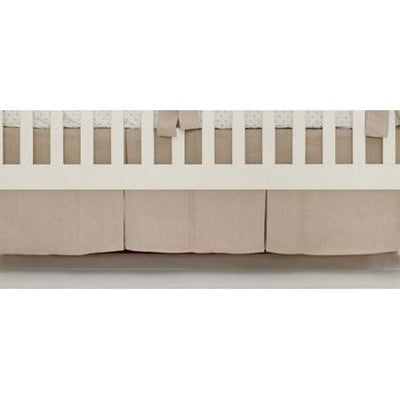 Crib Skirt | Washed Linen in Flax-Crib Skirt-Jack and Jill Boutique