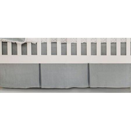 Crib Skirt | Washed Linen in Gray-Crib Skirt-Jack and Jill Boutique