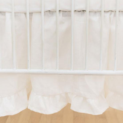 Crib Skirt | Washed Linen in Ivory-Crib Skirt-Jack and Jill Boutique