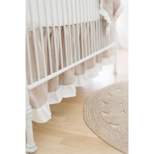 Crib Skirt | Washed Linen in Natural
