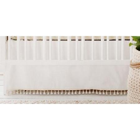 Crib Skirt | White Gold Dust-Crib Skirt-Jack and Jill Boutique