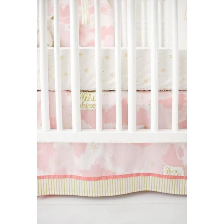 Crib Skirt | You Are Magic in Pink