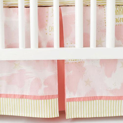 Crib Skirt | You Are Magic in Pink-Crib Skirt-Jack and Jill Boutique