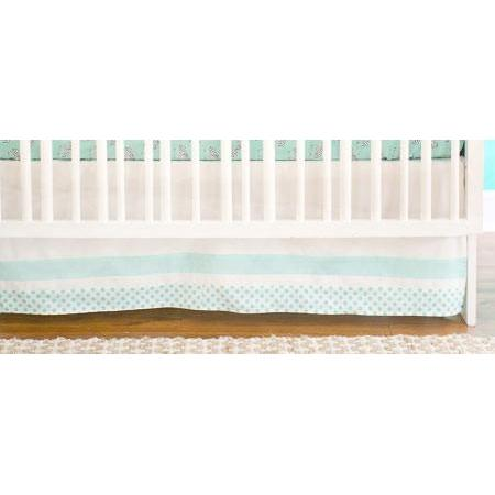 Crib Skirt | Zebra Parade in Mint-Crib Skirt-Jack and Jill Boutique