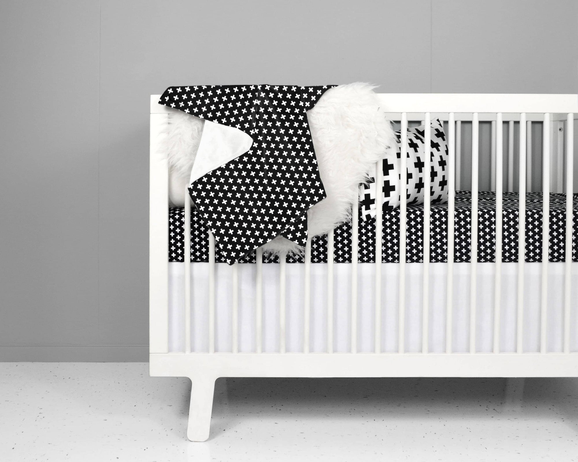 Black Cross Crib Bedding Set-Crib Bedding Set-Jack and Jill Boutique