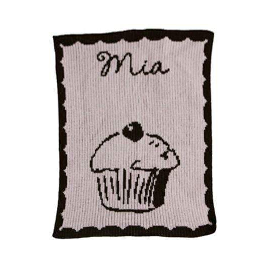 Cupcake Personalized Stroller Blanket or Baby Blanket-Blankets-Jack and Jill Boutique