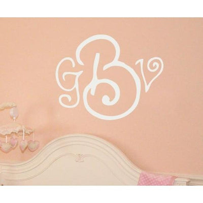 Curly Whirly Monogram Wall Decal-Decals-Jack and Jill Boutique
