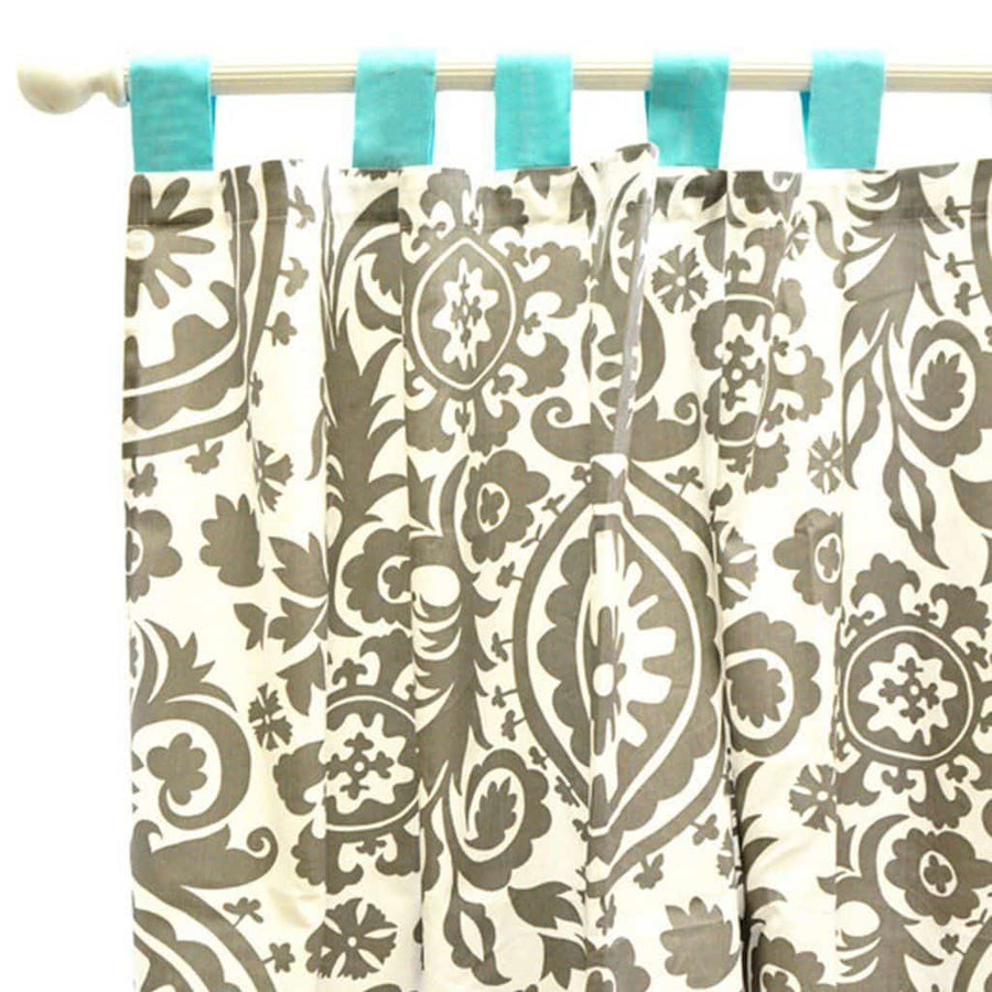 Curtain panels | Aqua & Gray Wink-Curtain Panels-Default-Jack and Jill Boutique
