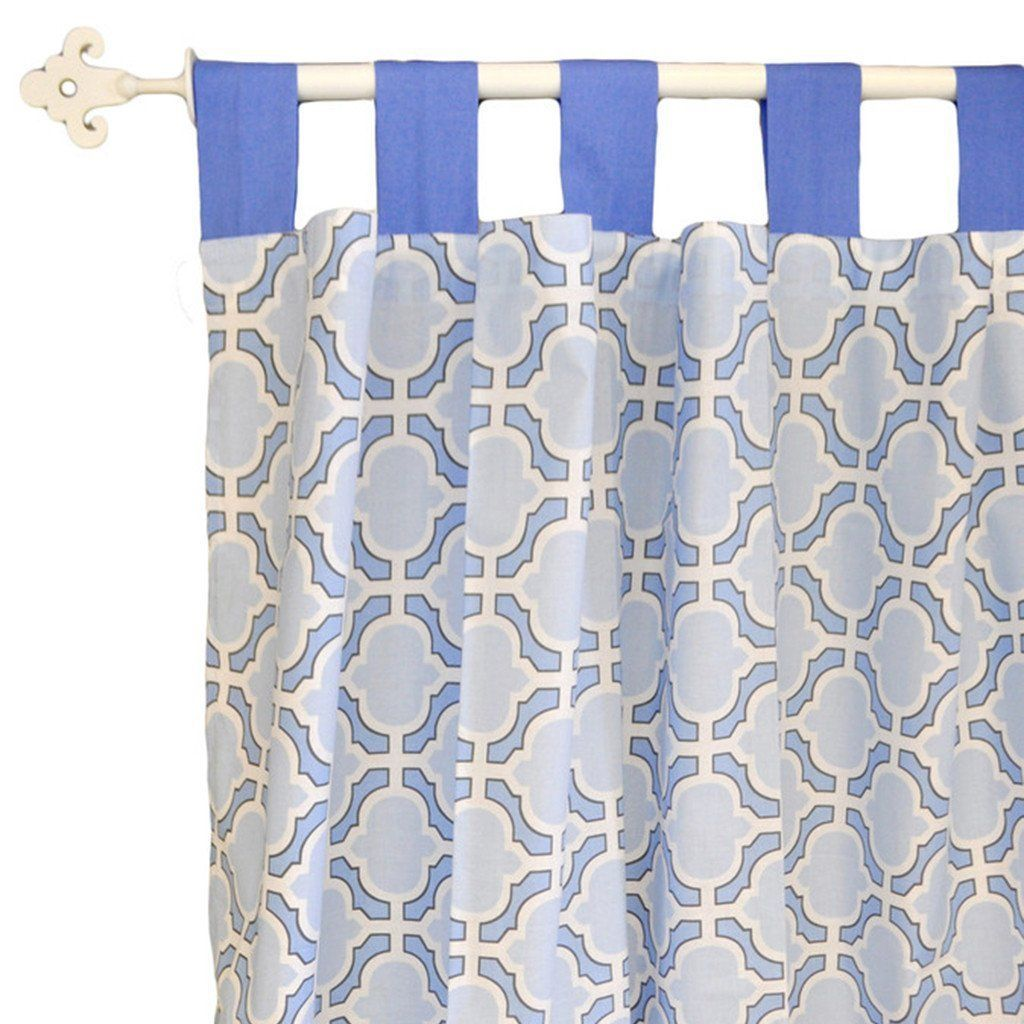 Curtain Panels | Blue and White Carousel-Curtain Panels-New Arrivals-Jack and Jill Boutique
