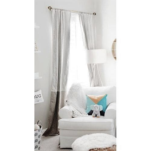 Curtain Panels | Gray Dalmatian Spots-Curtain Panels-Jack and Jill Boutique