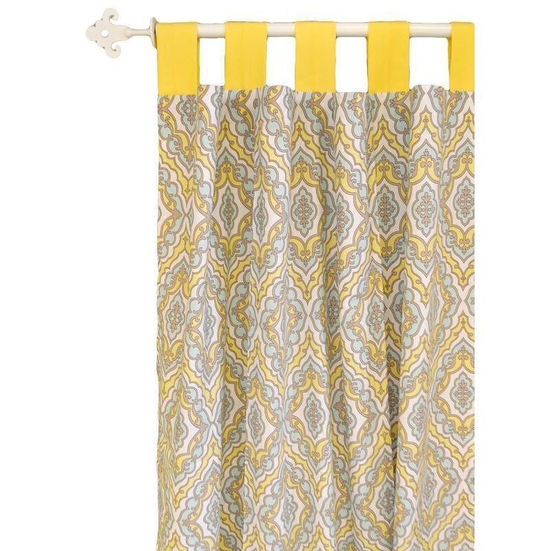Curtain Panels | Dreamweaver Yellow and Aqua-Curtain Panels-New Arrivals-Jack and Jill Boutique