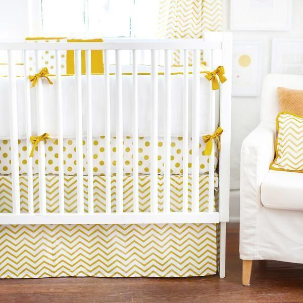 Curtain Panels | Gold Burst Metallic Chevron