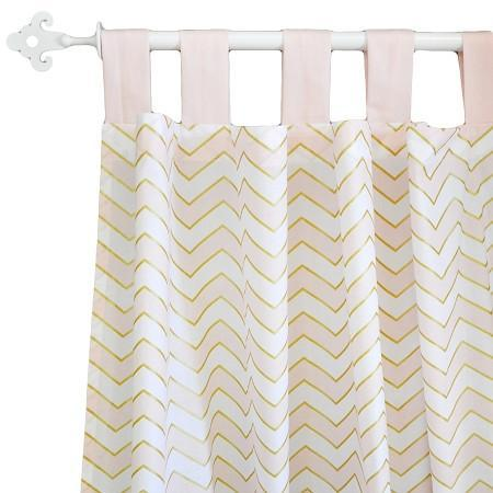 Curtain Panels | Gold Rush in Pink-Curtain Panels-Default-Jack and Jill Boutique