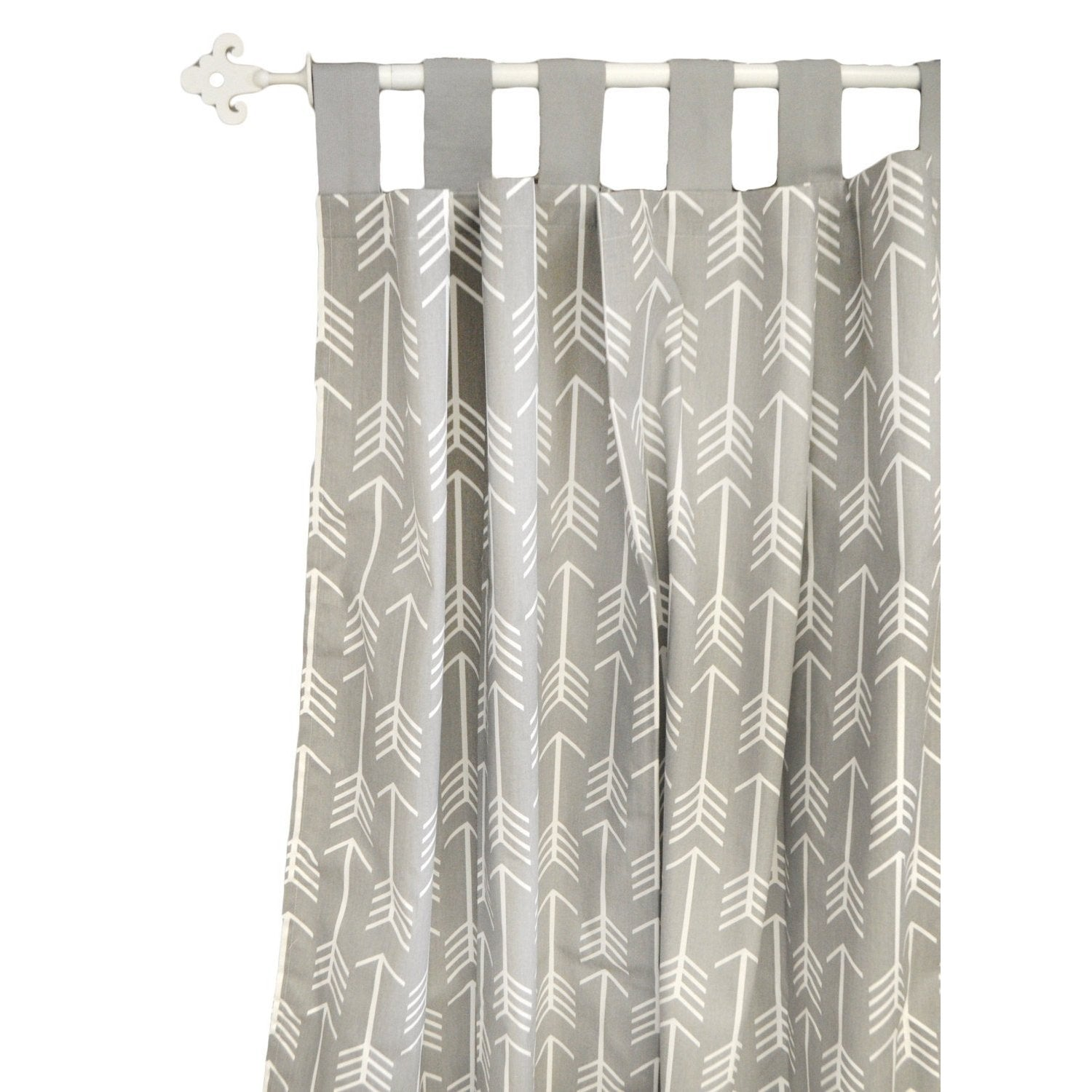Curtain Panels | Gray Arrow Wanderlust in Gray-Curtain Panels-Jack and Jill Boutique