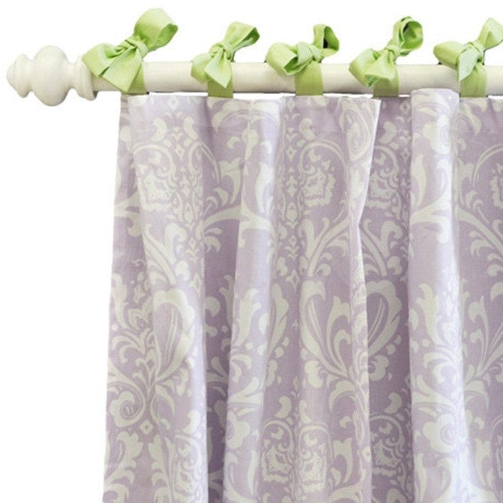 Curtain panels | Lavender Damask Sweet Violet-Curtain Panels-Default-Jack and Jill Boutique