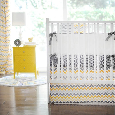 Curtain panels | Mellow Yellow Yellow and Grey-Curtain Panels-Default-Jack and Jill Boutique