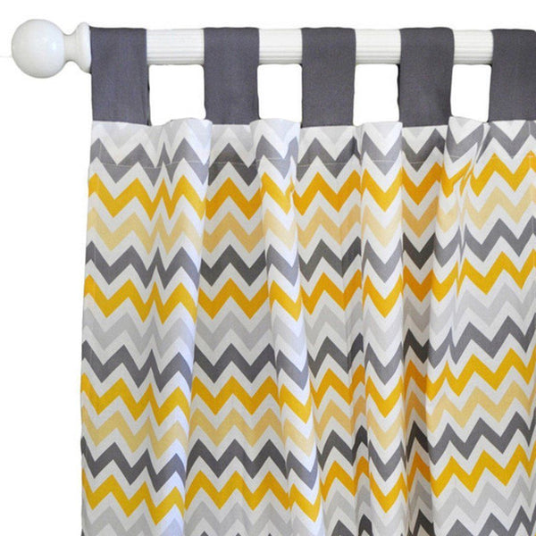 Curtain panels mellow yellow yellow and grey jack and jill boutique - Mellow yellow boutique ...