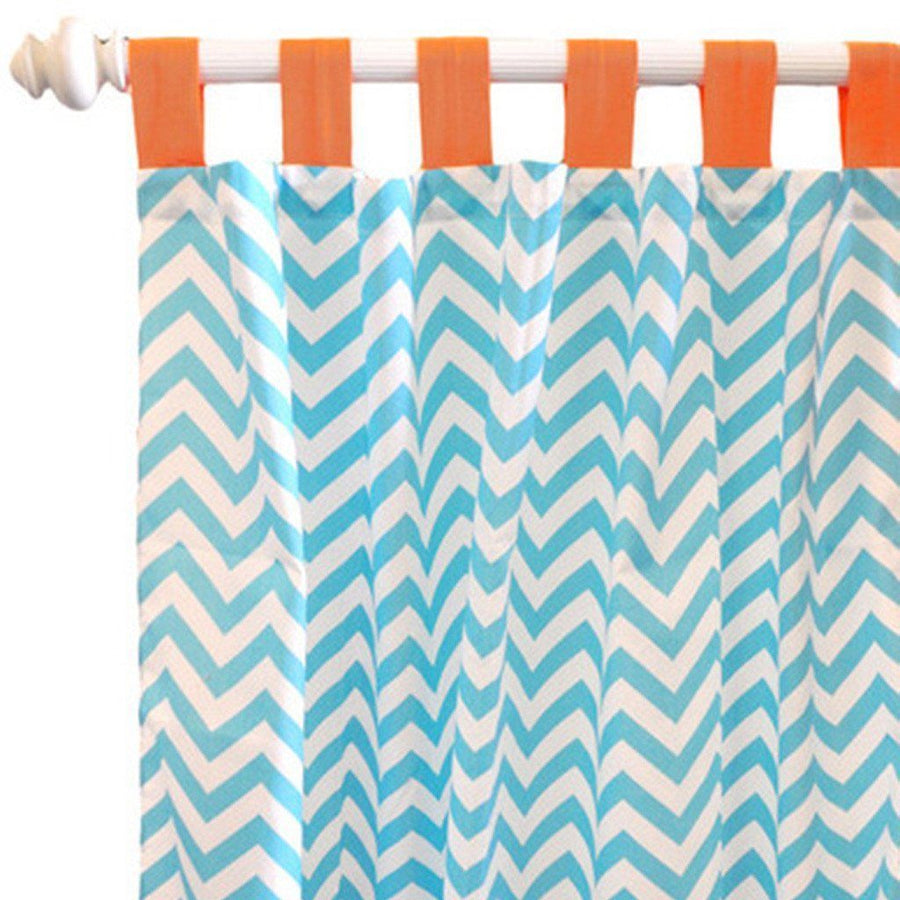 Curtain panels | Orange Crush