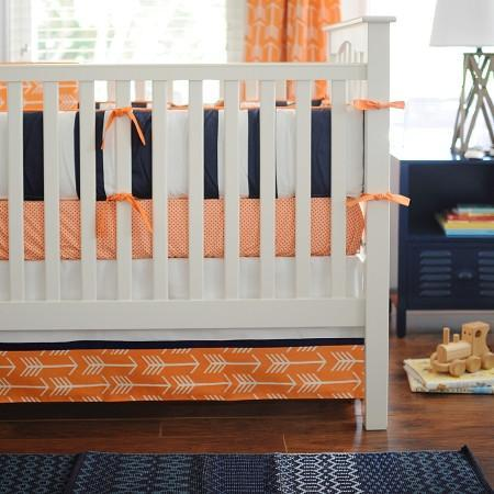 Curtain Panels | Orange & Navy Arrow Out & About
