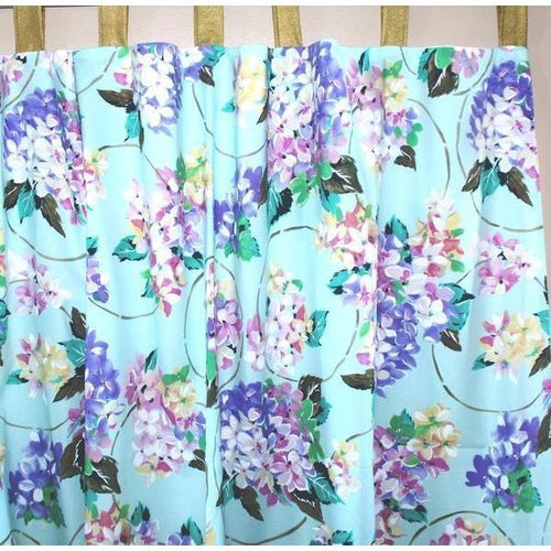 Curtain Panels Pair | Cordelia Aqua-Curtain Panels-Bold Bedding-Jack and Jill Boutique