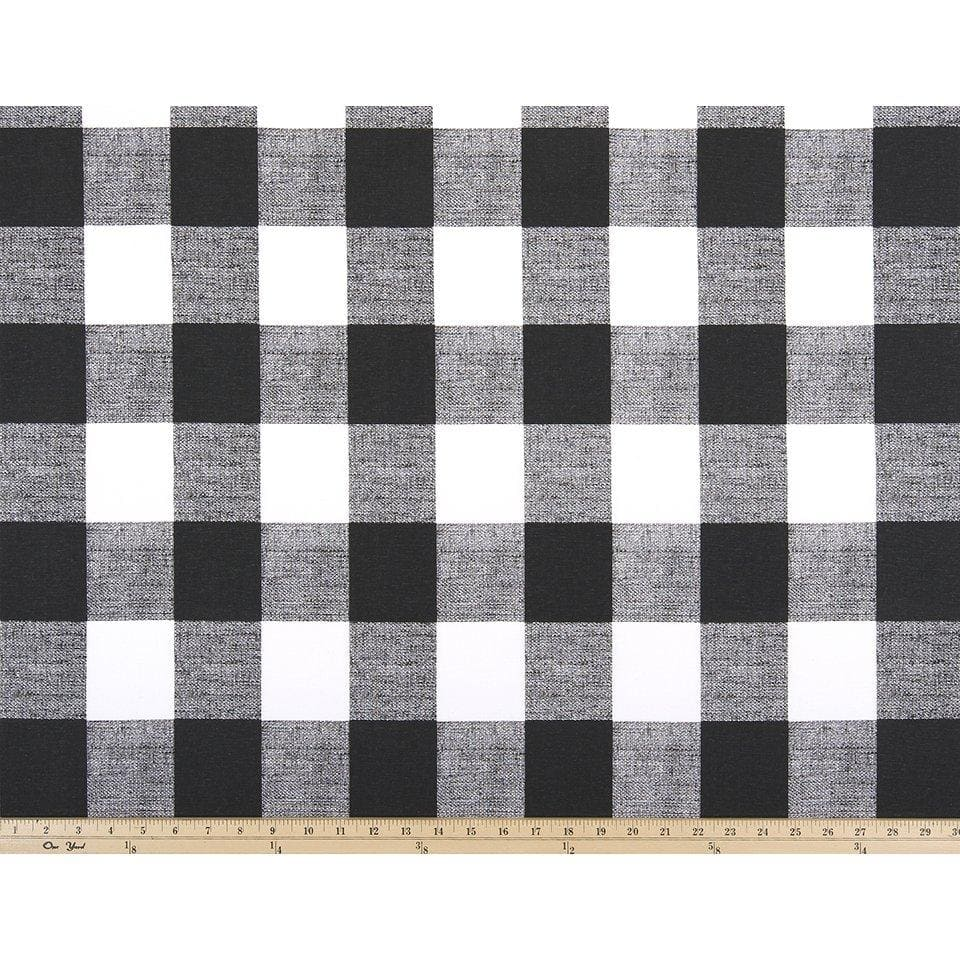Curtain Panels Pair with Lining | Buffalo Check Fabric Print-Curtain Panels-Cloud Linen-Jack and Jill Boutique