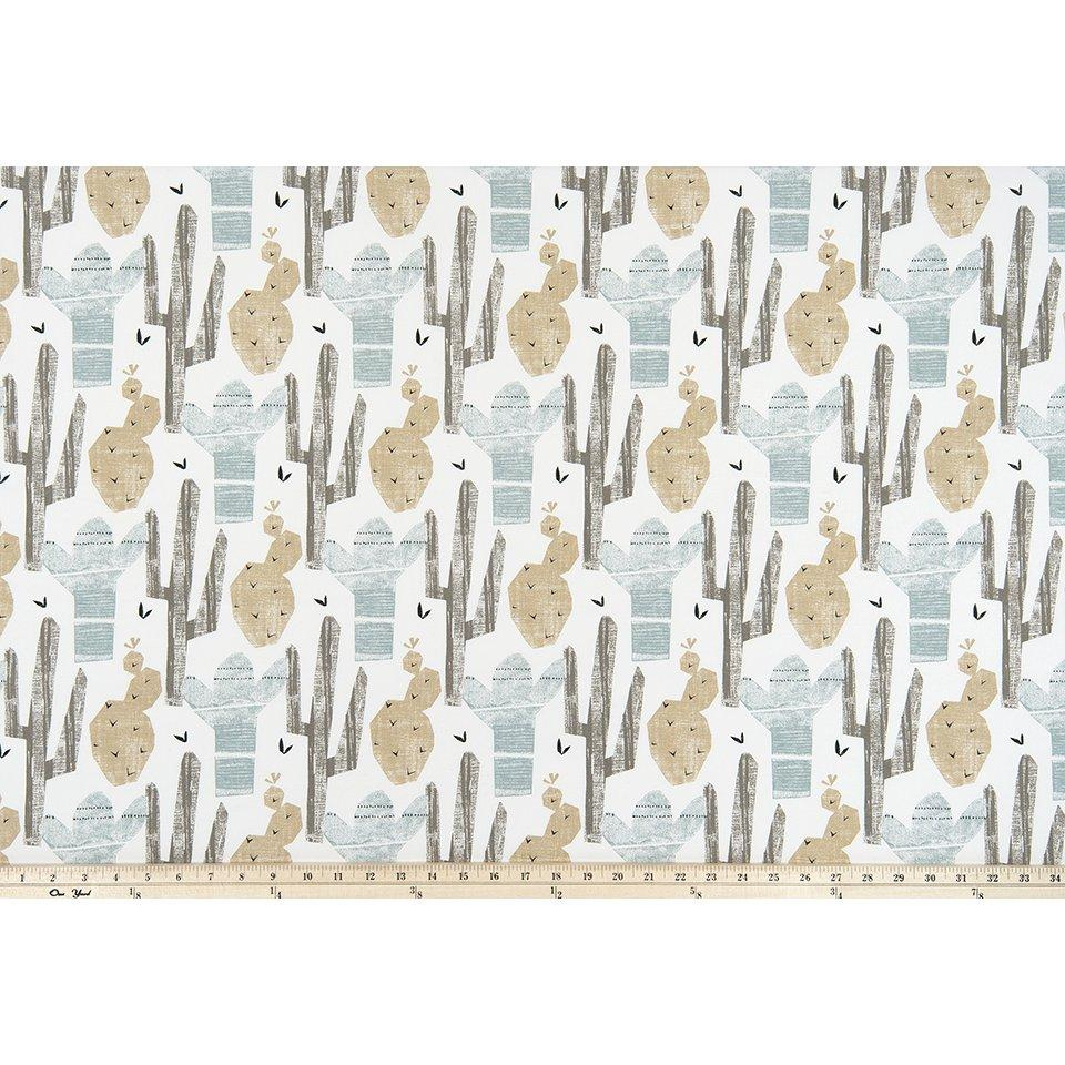 Curtain Panels Pair with Lining | Cactus Fabric Print-Curtain Panels-Awendela-Jack and Jill Boutique